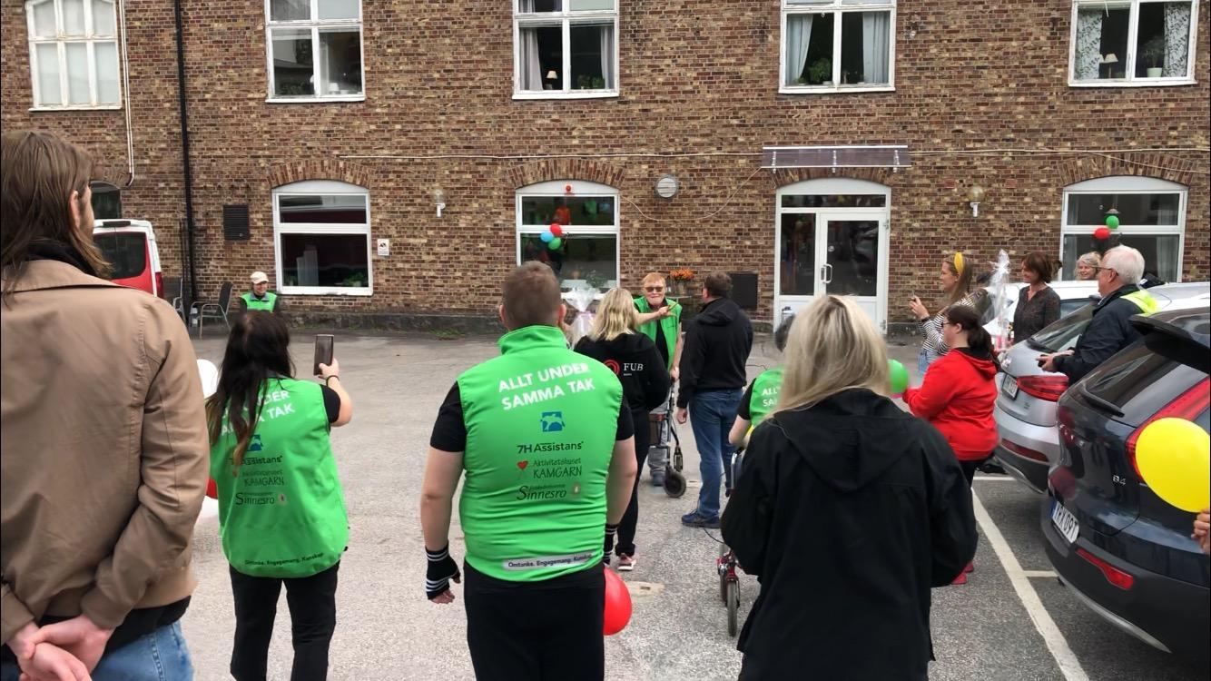 Prisutdelning till Elisabeth Broberg på verksamheten Kamgarn i Borås