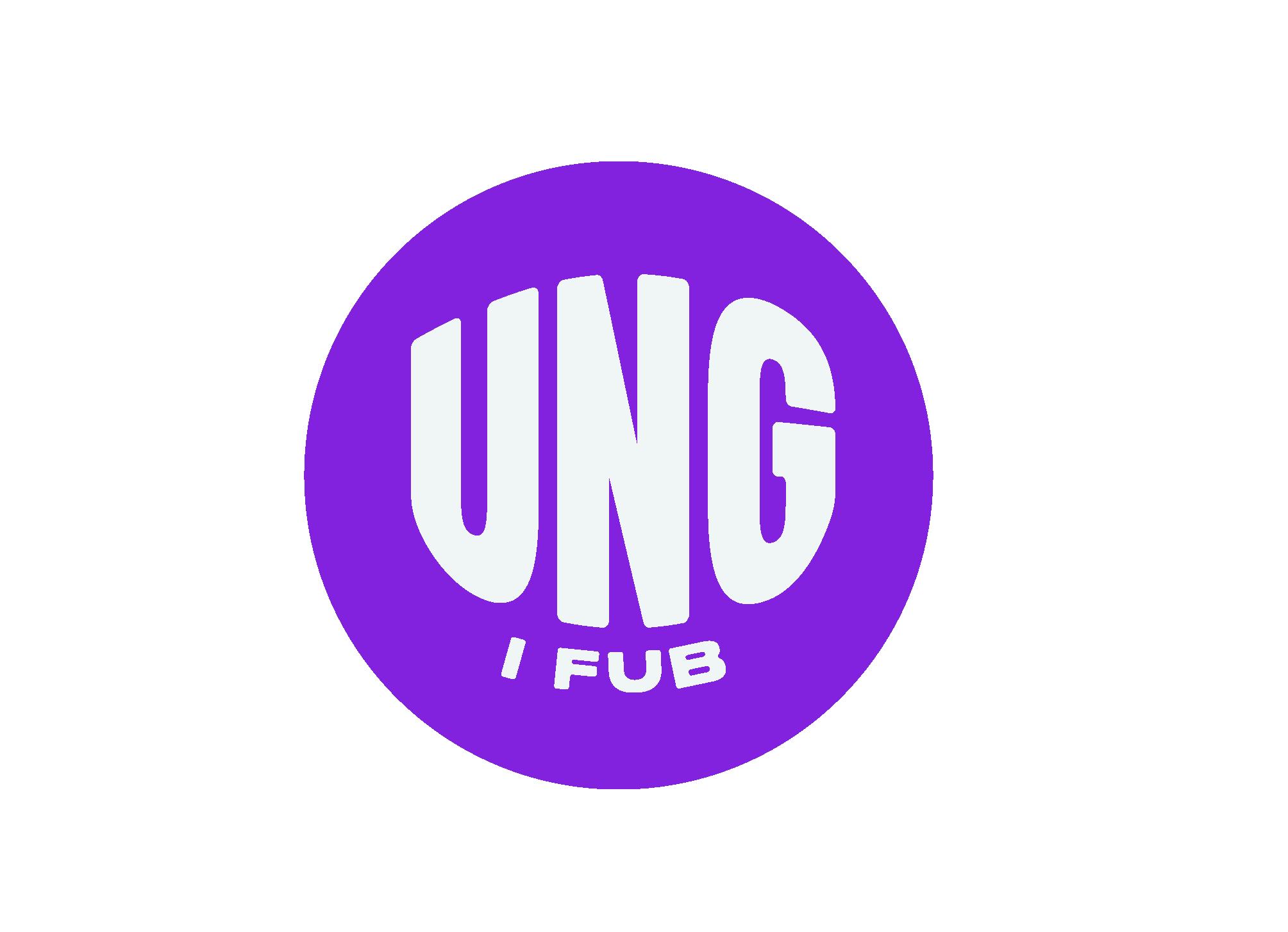 Ung i FUB-logotyp, lilla