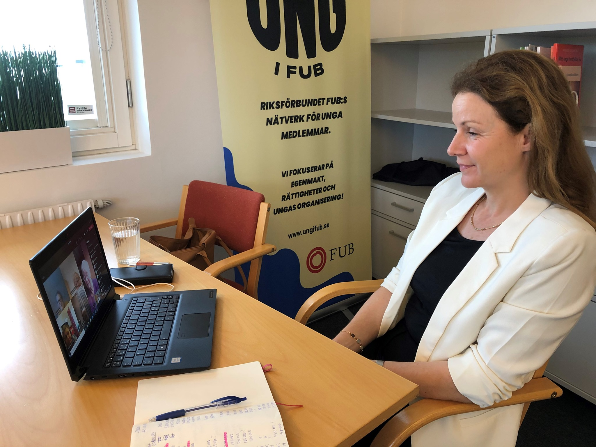 Christina Heilborn träffar lokalförening digitalt
