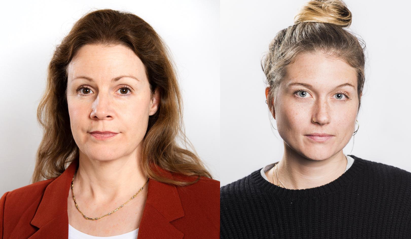 Christina Heilborn och Julia Henriksson