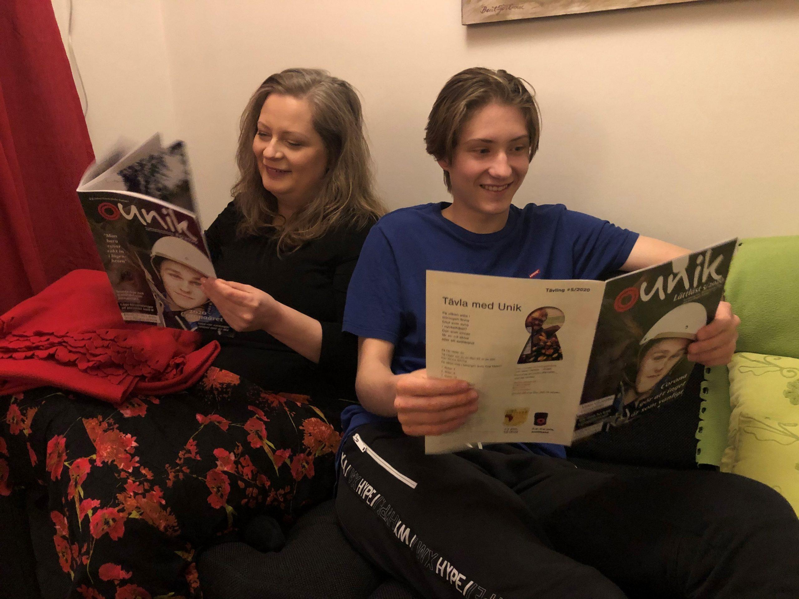Victoria och David läser Unik nummer 5, 2020