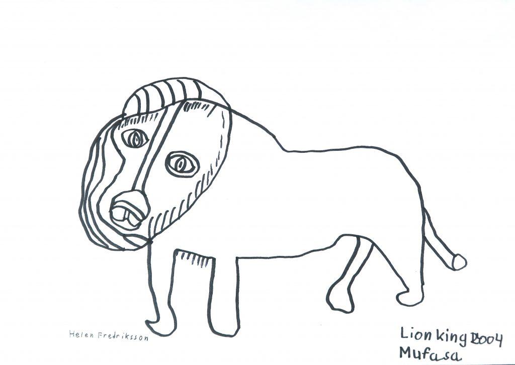 Lion King Mufasa Av Helen Fredriksson