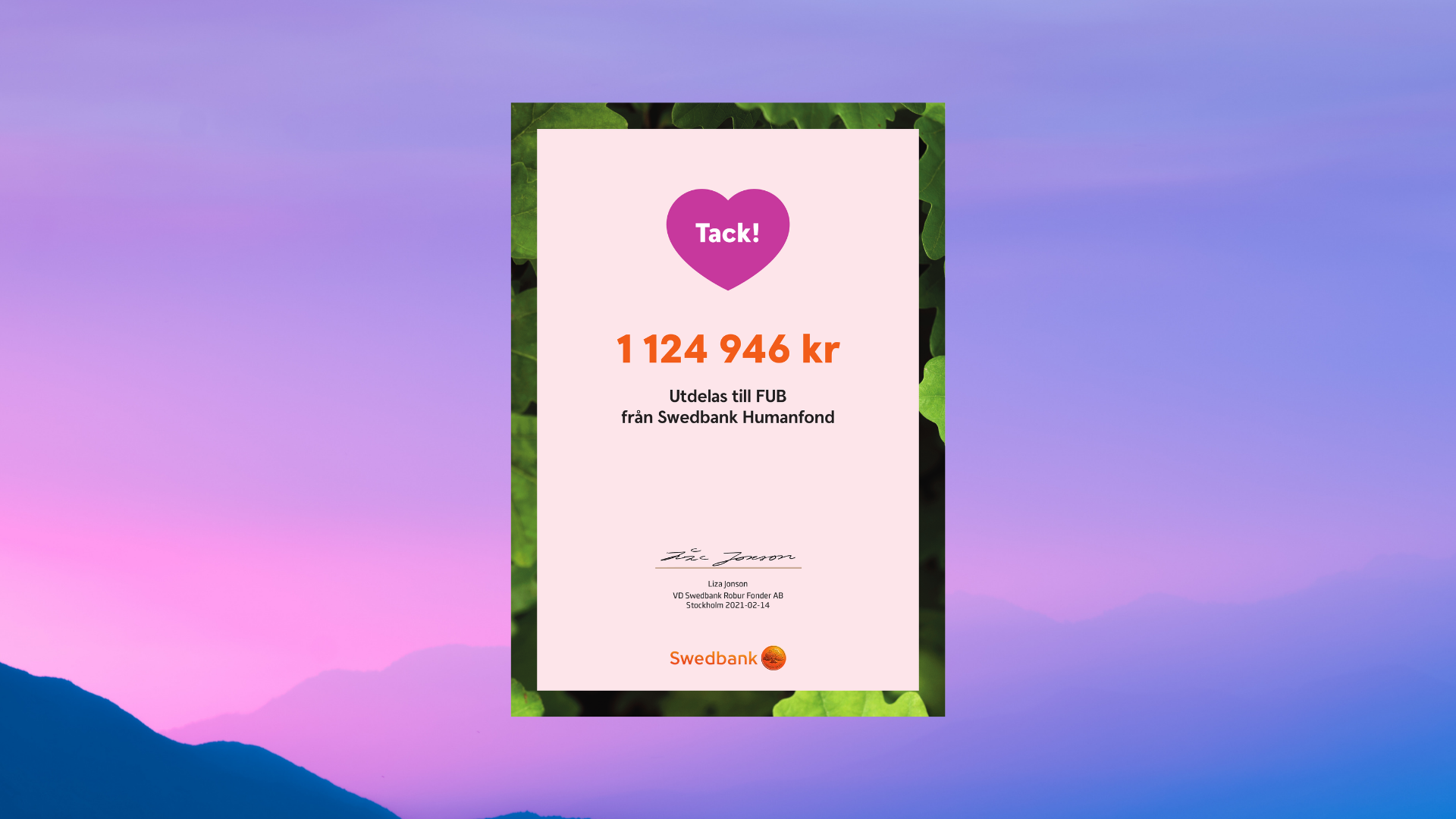 Diplom Hjärtdagen 2021