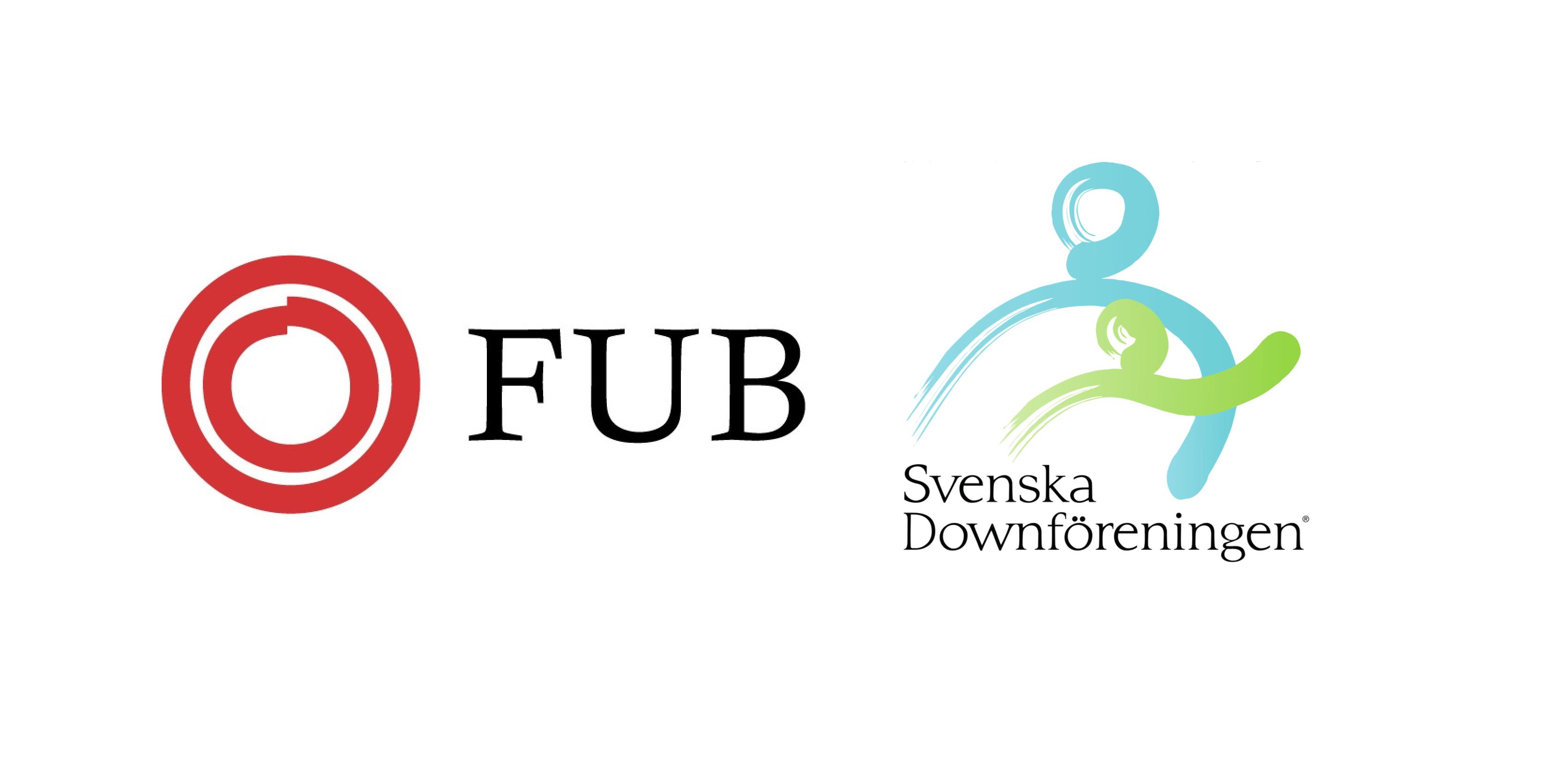 FUB och Svenska Downföreningen logotyper