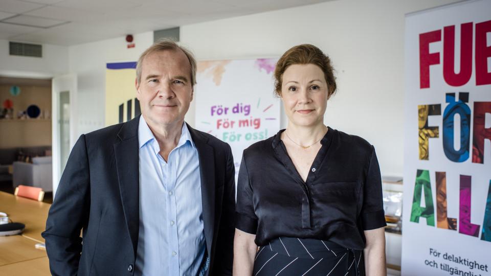 Anders Lago och Christina Heilborn foto: Linnea Bengtsson